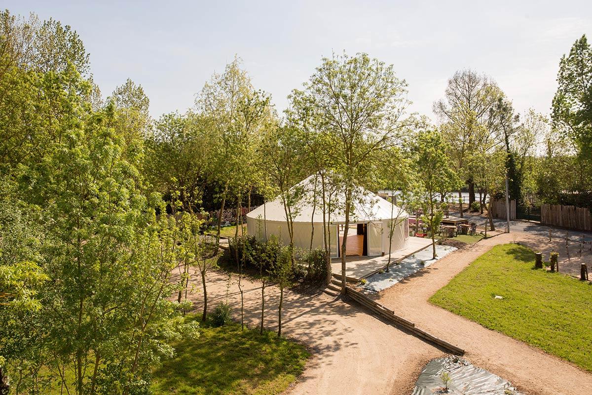 yourte du camping Marais Poitevin