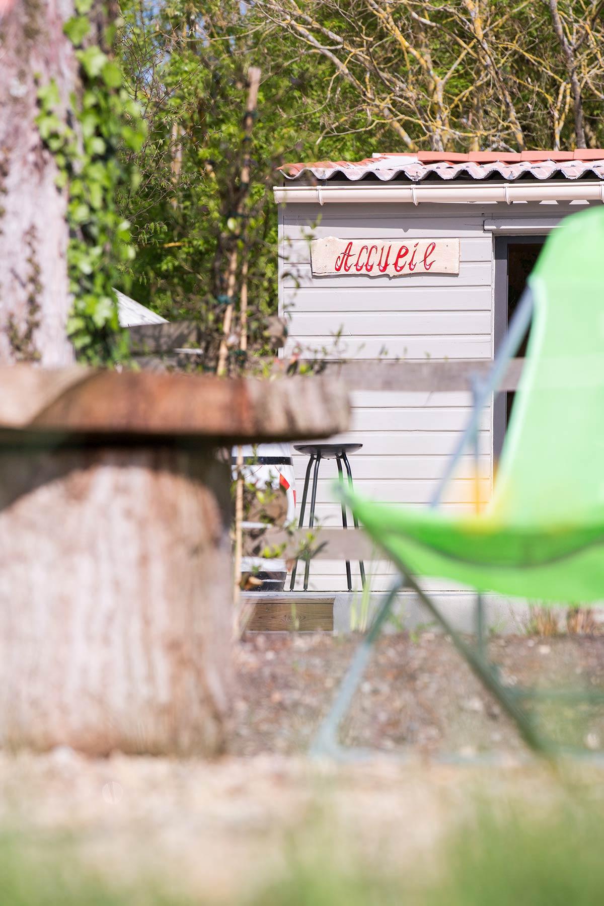 bar du camping Marais Poitevin