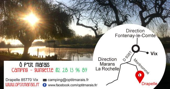 accès camping O Ptit Marais